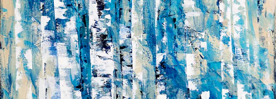 Susan Swartz, Winter Chill, acrylic on linen, 36x60. Shown at NMWA