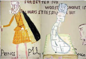 Rose Wylie, Lords and Ladies, 2006. Oil on canvas.